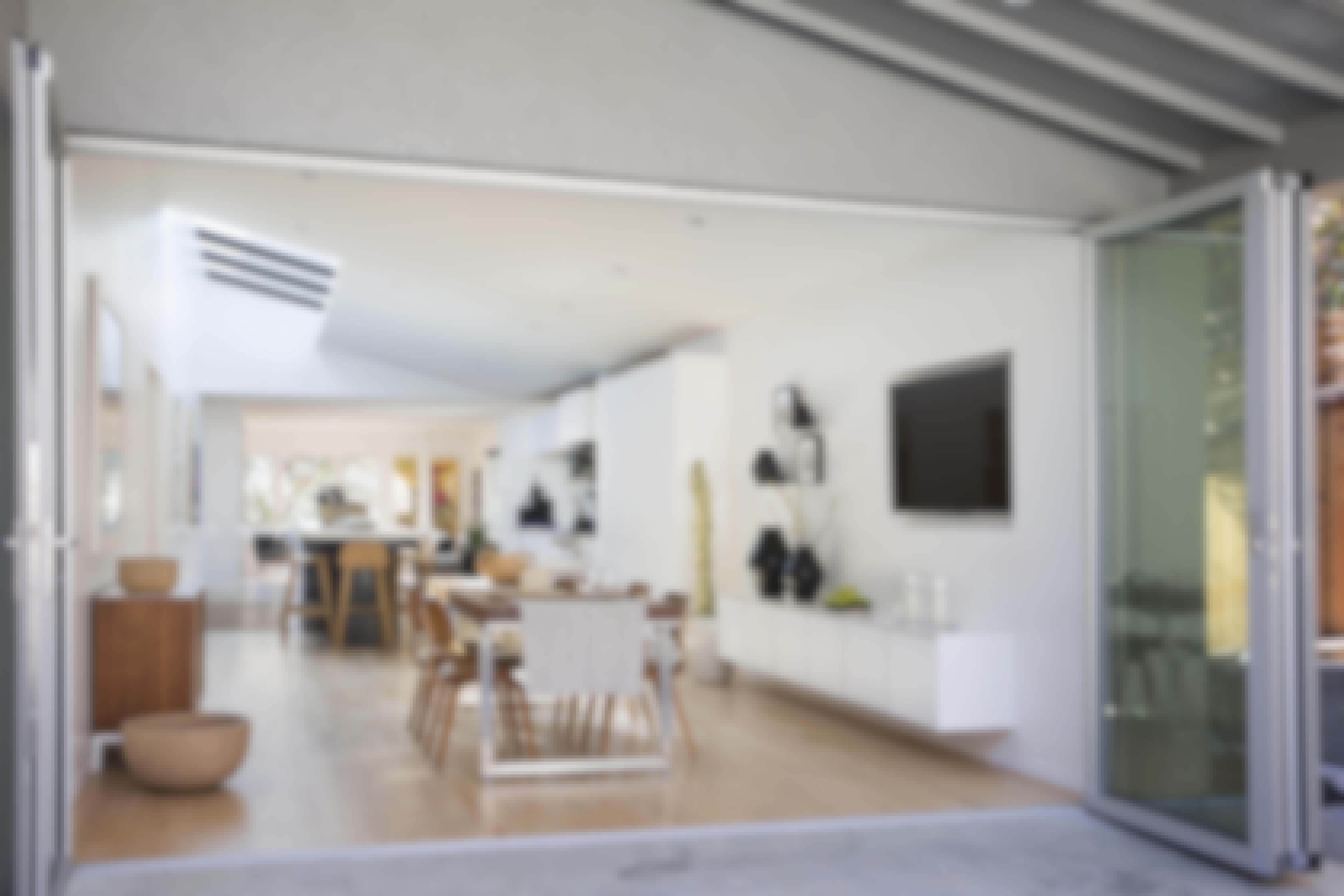 remodel with floor supported folding door