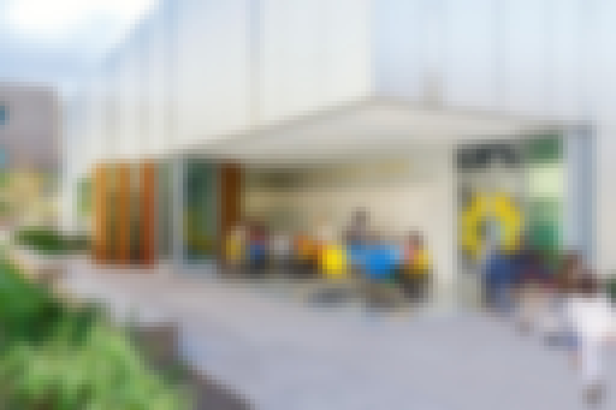 indoor/outdoor classroom designed with NanaWall sliding glass walls for 21st Century learning
