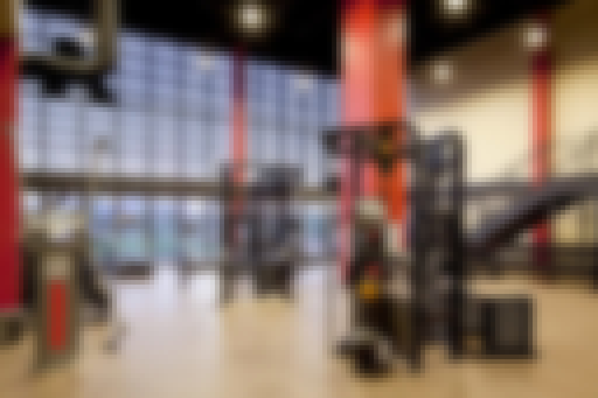 fitness center design with opening glass walls