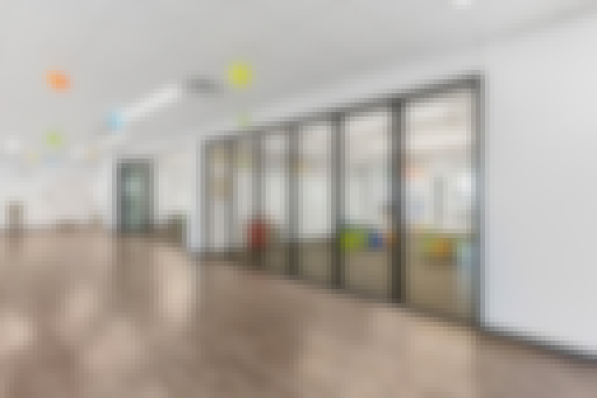 learning hubs with folding glass walls