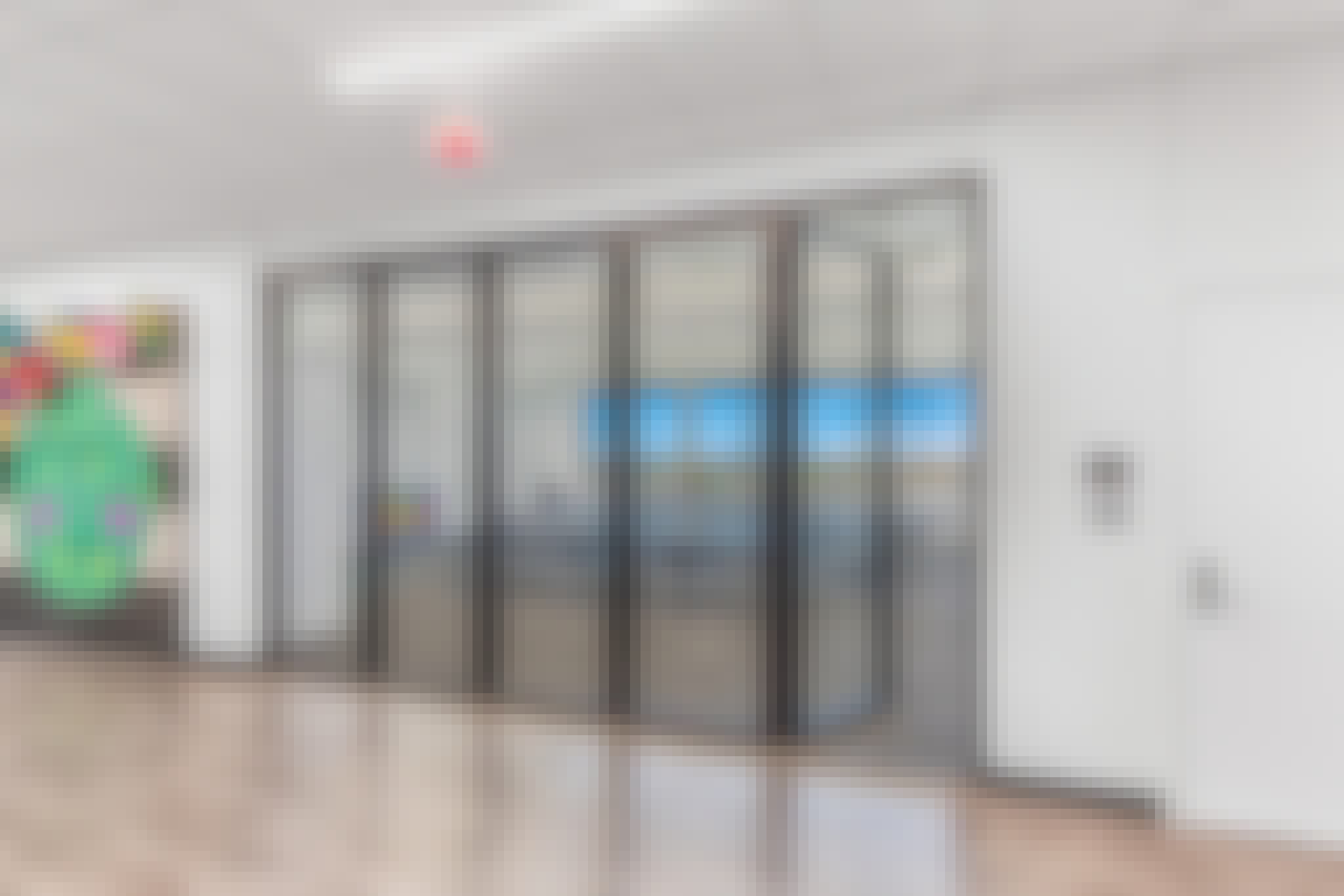 school design with folding glass wall learning hubs