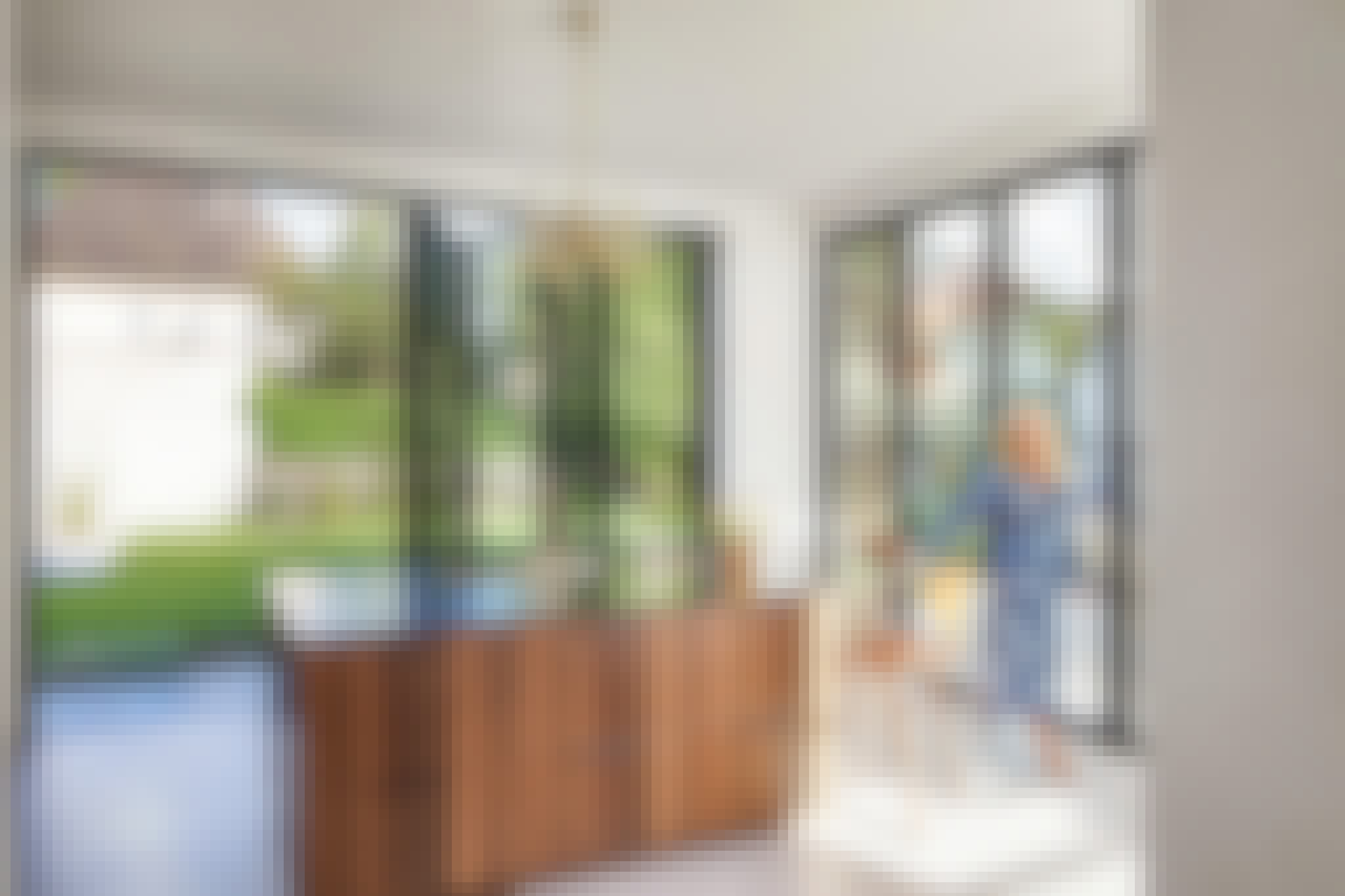divided lites in exterior moving glass walls