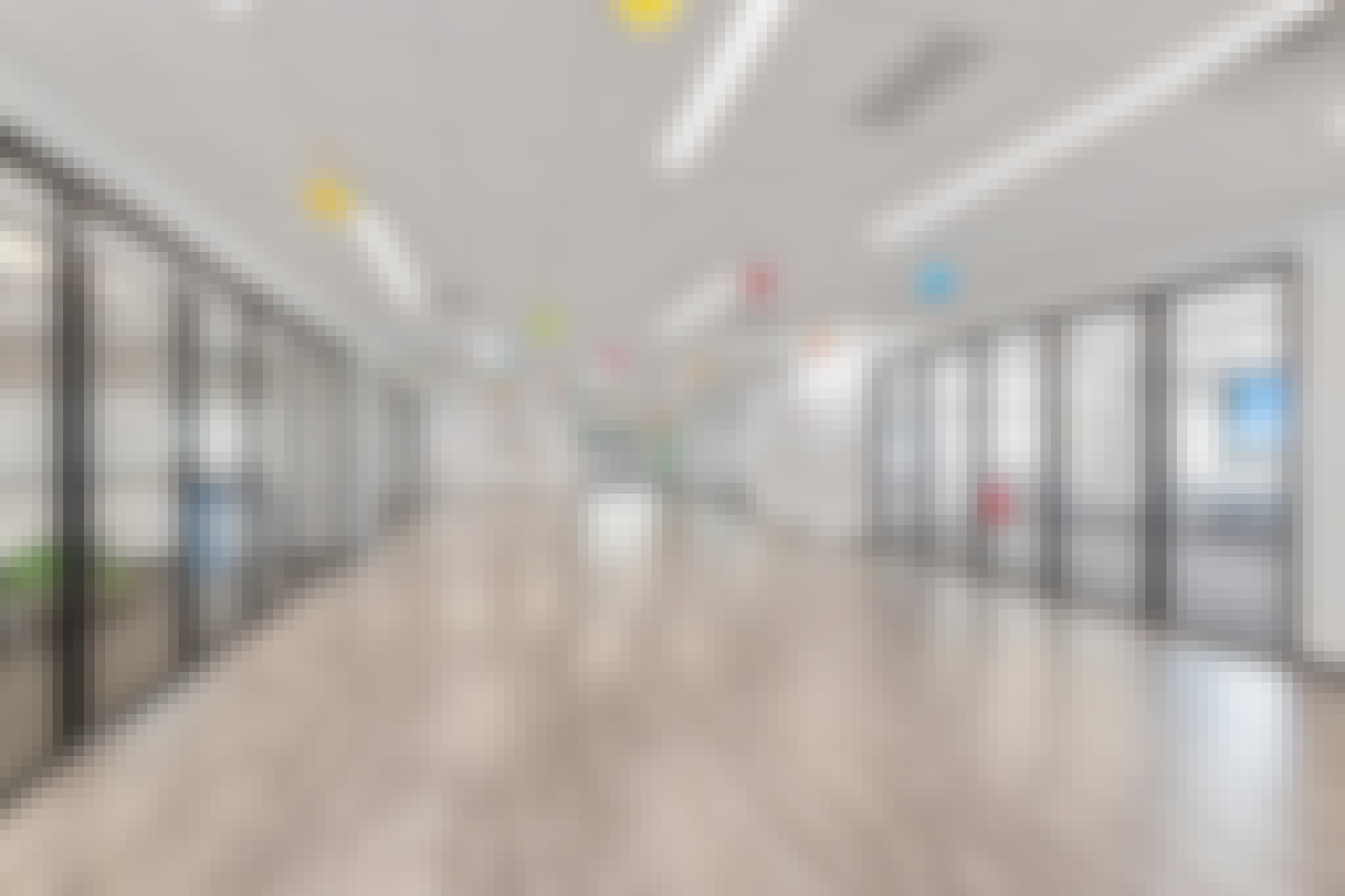 elementary school design with learning hubs and folding glass walls