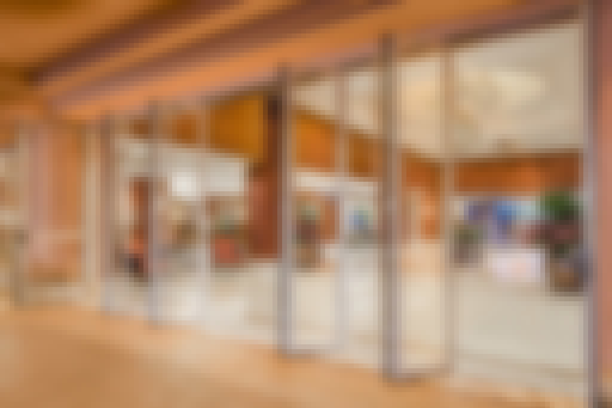 wide open for traffic control with commercial glass walls