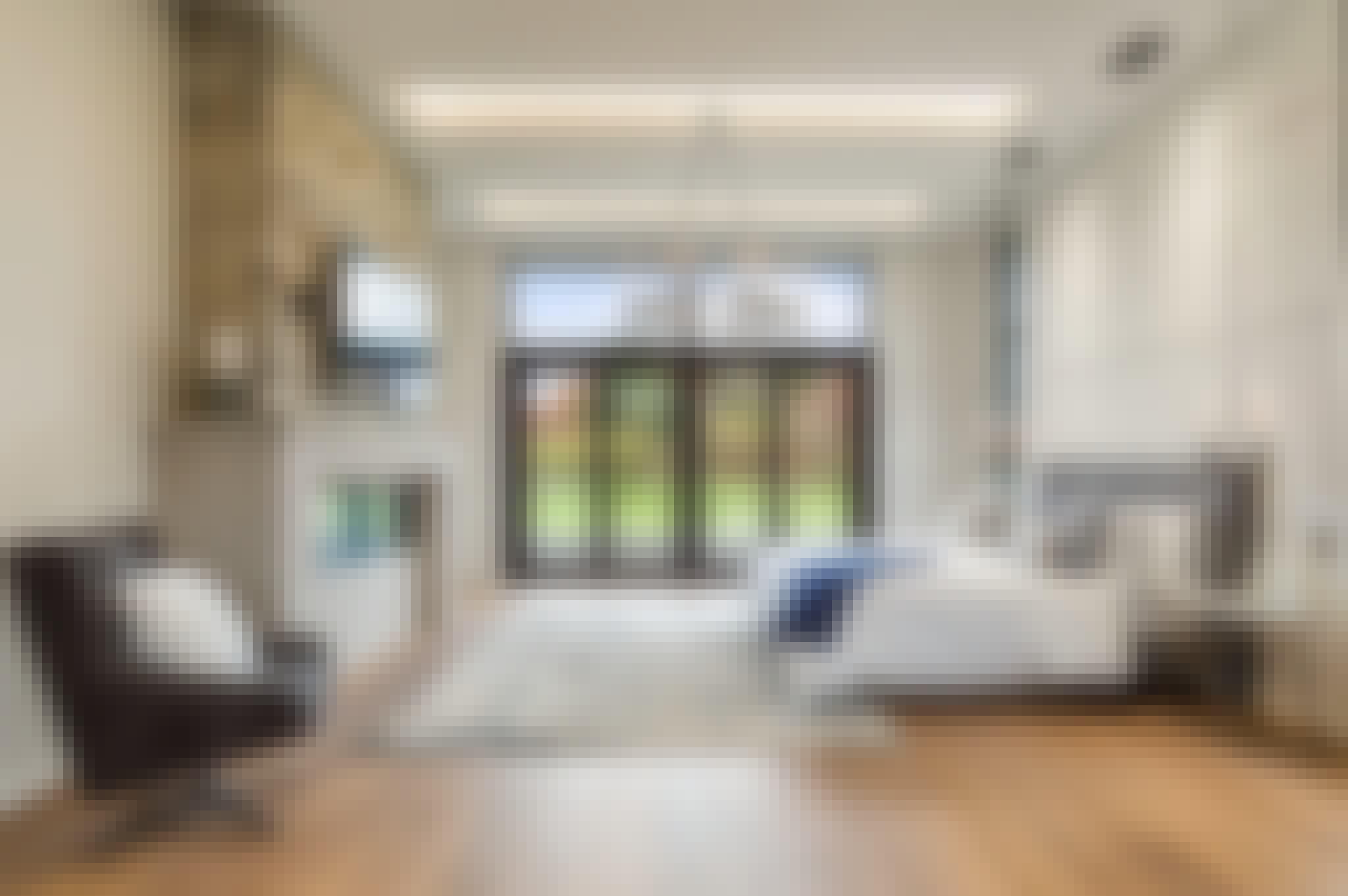 exterior glass wall systems in a bedroom