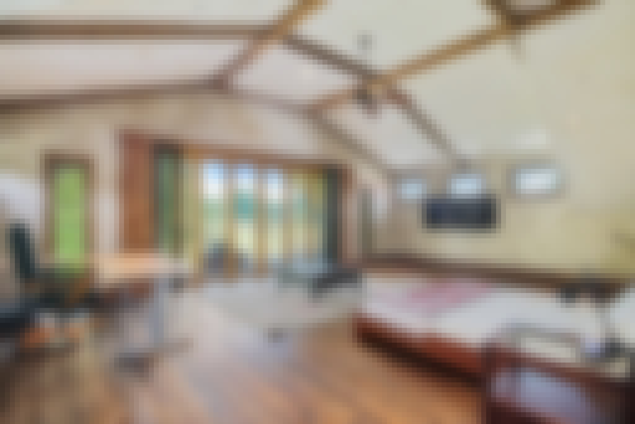 wood framed exterior glass wall systems in bedrooms