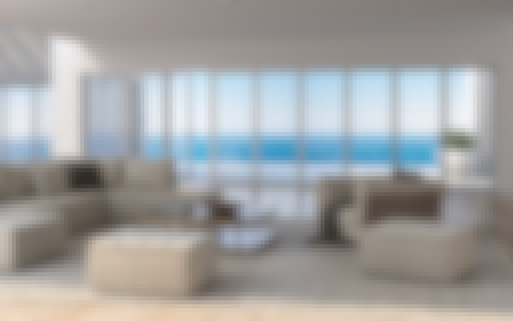 residential glass walls with ocean views