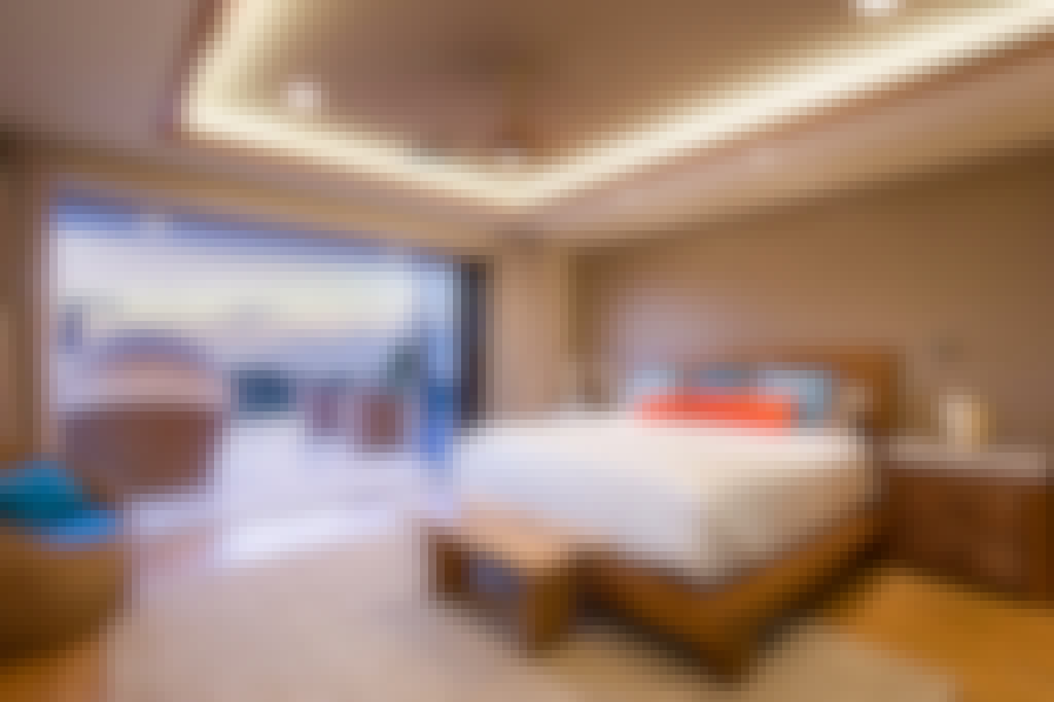 moveable glass wall systems in a bedroom