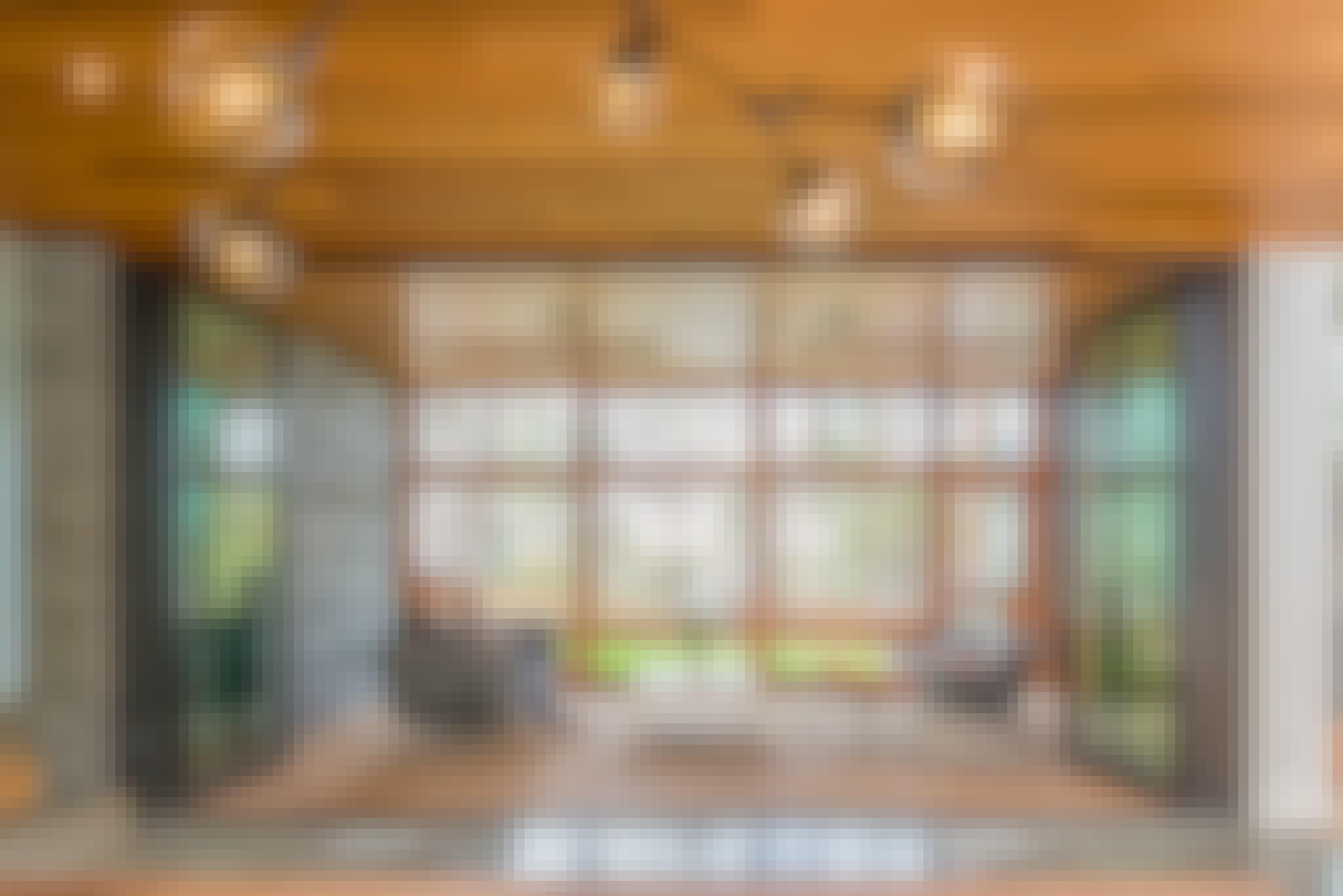 floor supported retractable glass walls