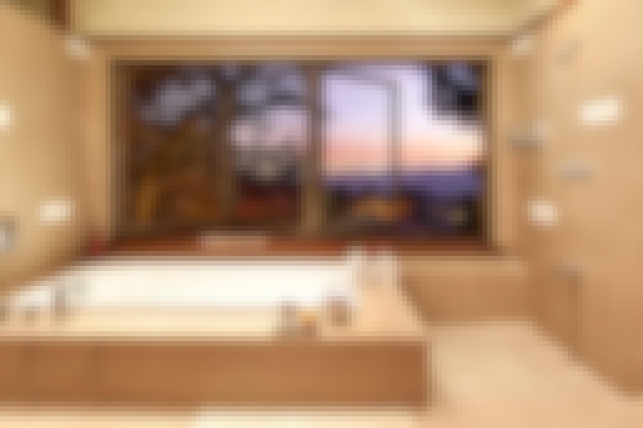 retractable glass windows in bath design