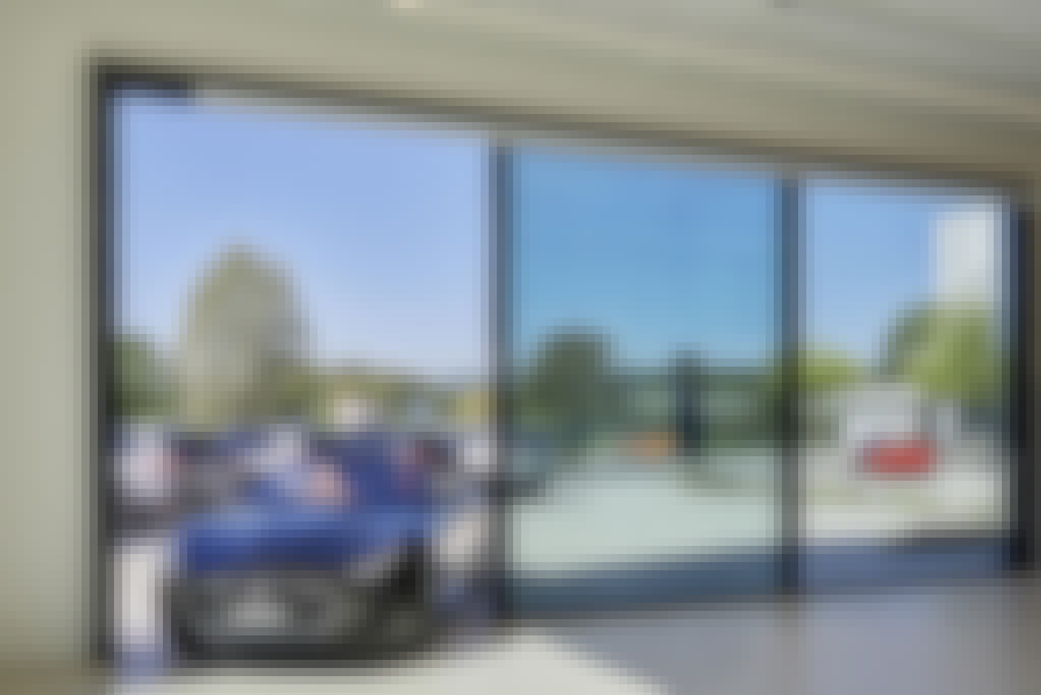 Japanese Walls as Entryway to Dealership Showroom
