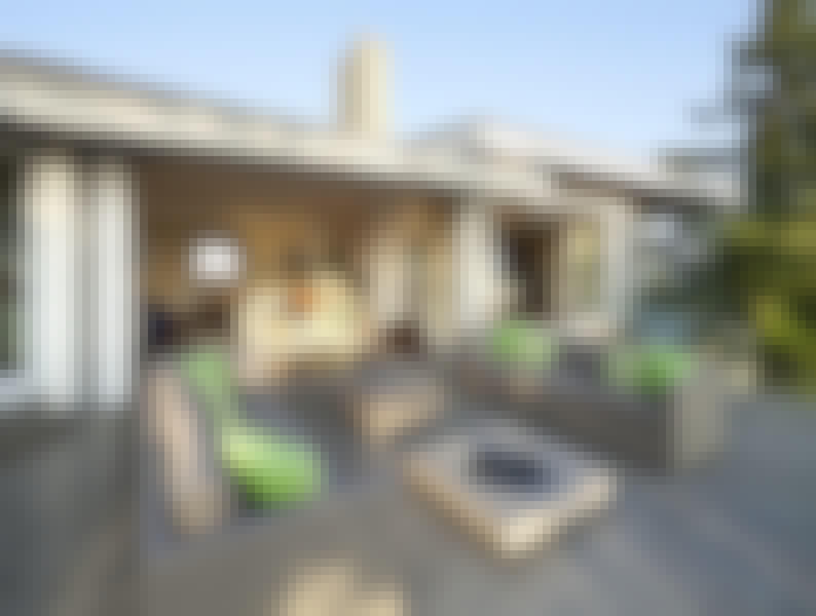 Floor to Ceiling Windows Provide Indoor Outdoor Living Space