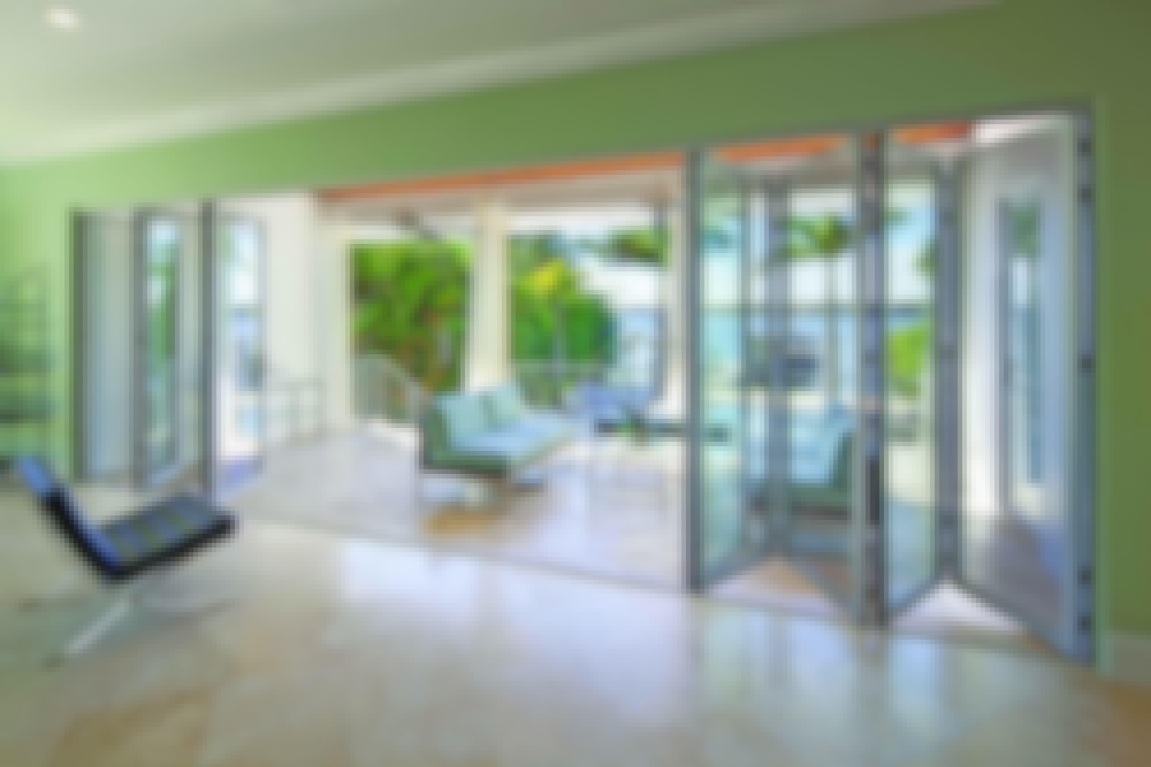 NanaWall SL45 narrow aluminum framed folding glass wall