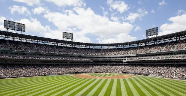 Chicago white-sox Stadium with uninterrupted Views to the Field