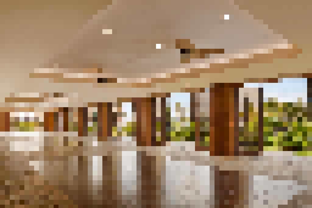 Wood Framed Folding Glass Walls WD65 Hilton Hawaii