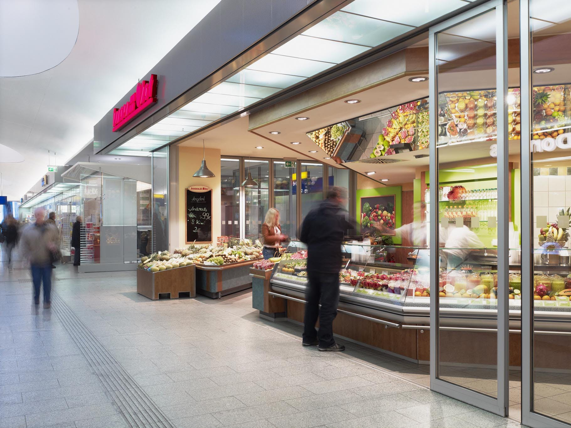 commercial interior glass walls partitions offer sound control features and flexibility in interior shopping center