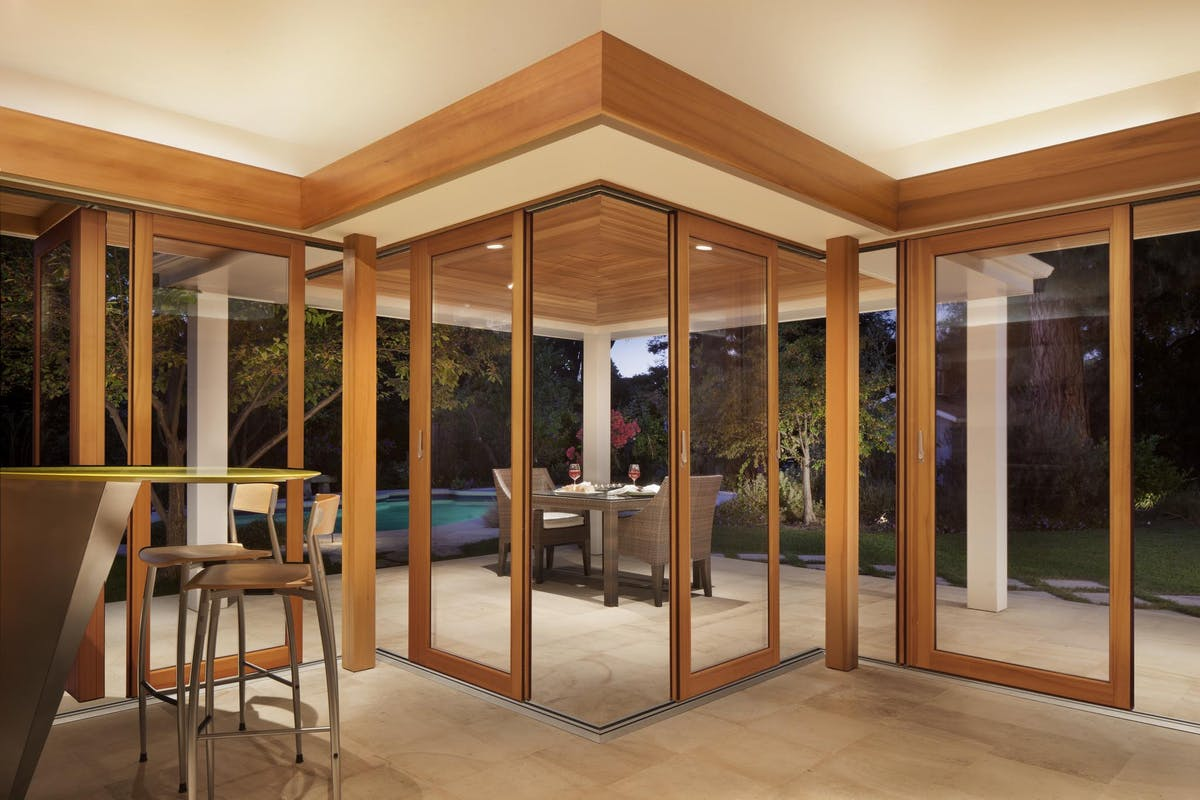 Wood Framed Sliding Glass Walls-HSW66