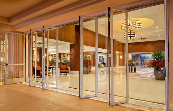 SL45 Folding Glass Walls -Commercially Rated Swing Door