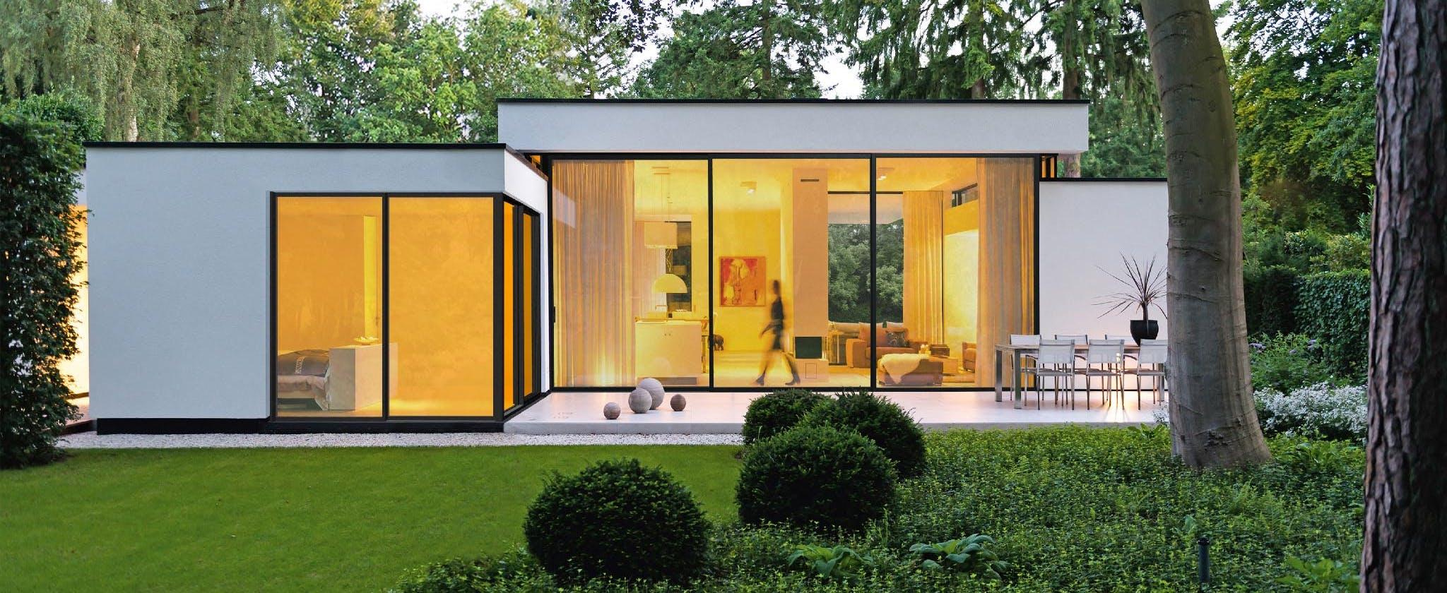 Minimal Sliding Glass Walls