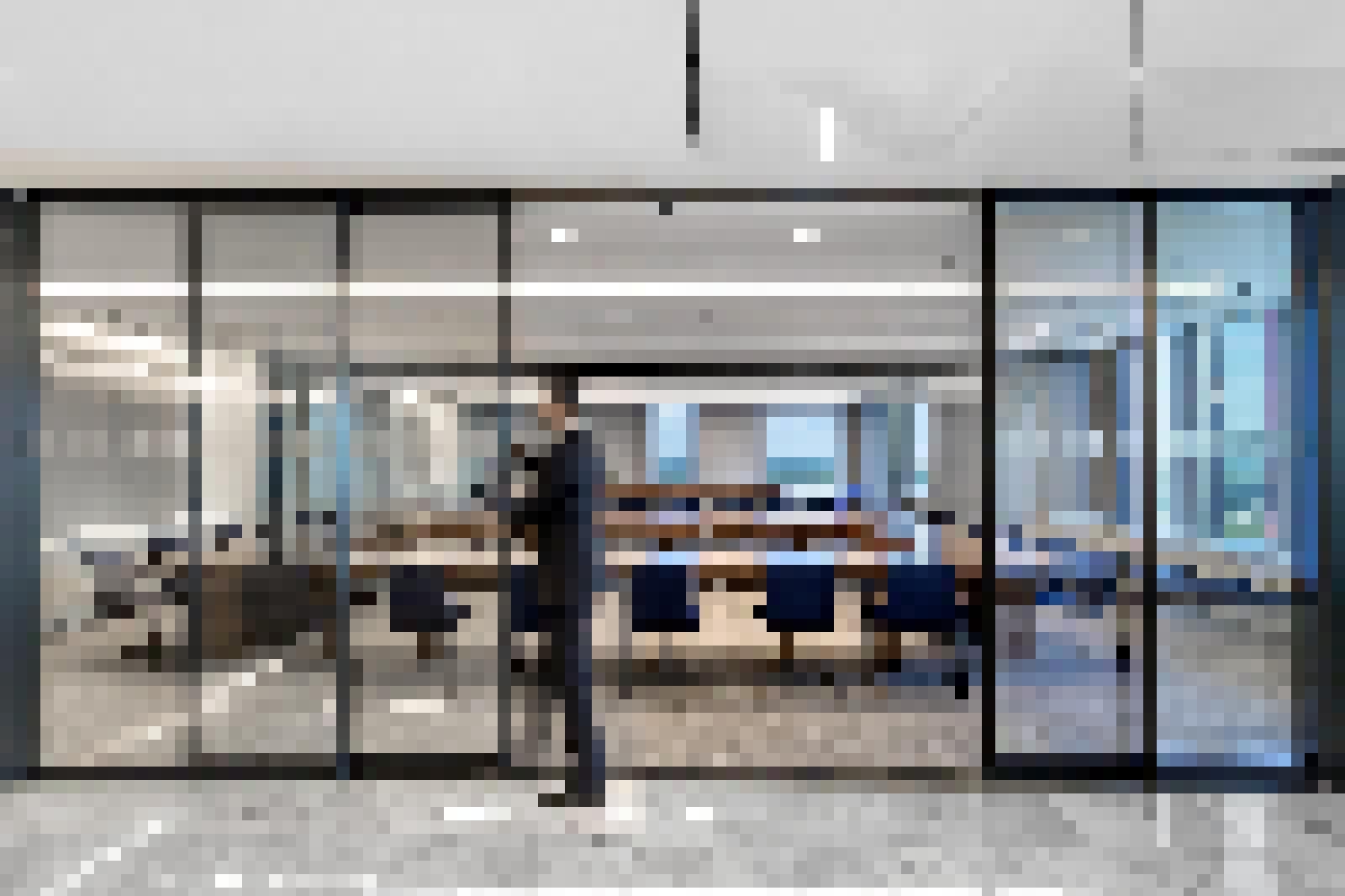 Minimal Framed Sliding Glass Walls Highlights