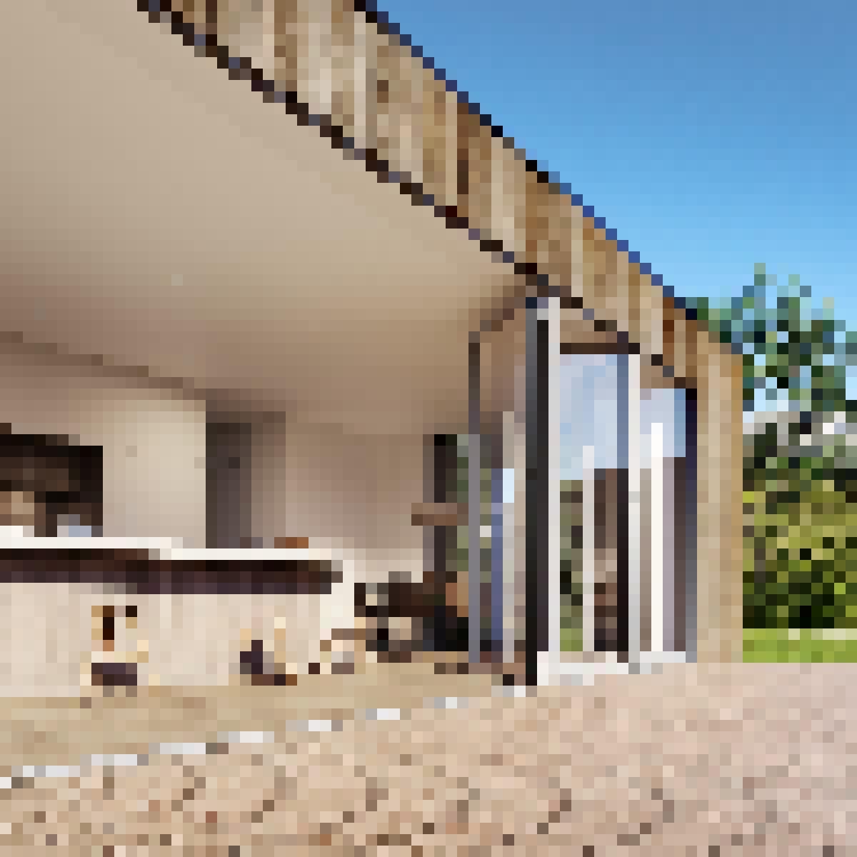 Aluminum Framed Folding Glass Walls SL84 Render-residential