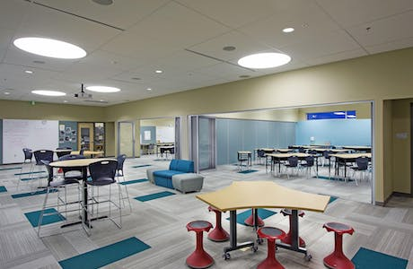 SL64 acoustical LG used for School Design for the 21st Century-Acoustical Joplin Door Open