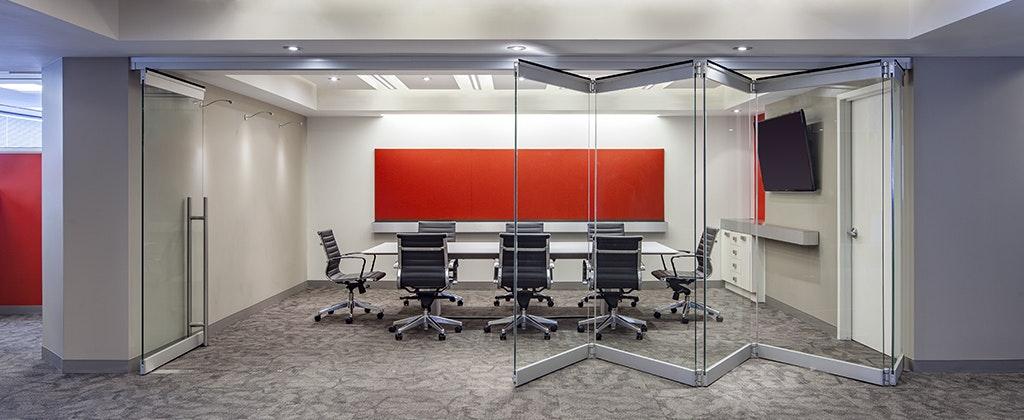 folding frameless glass walls