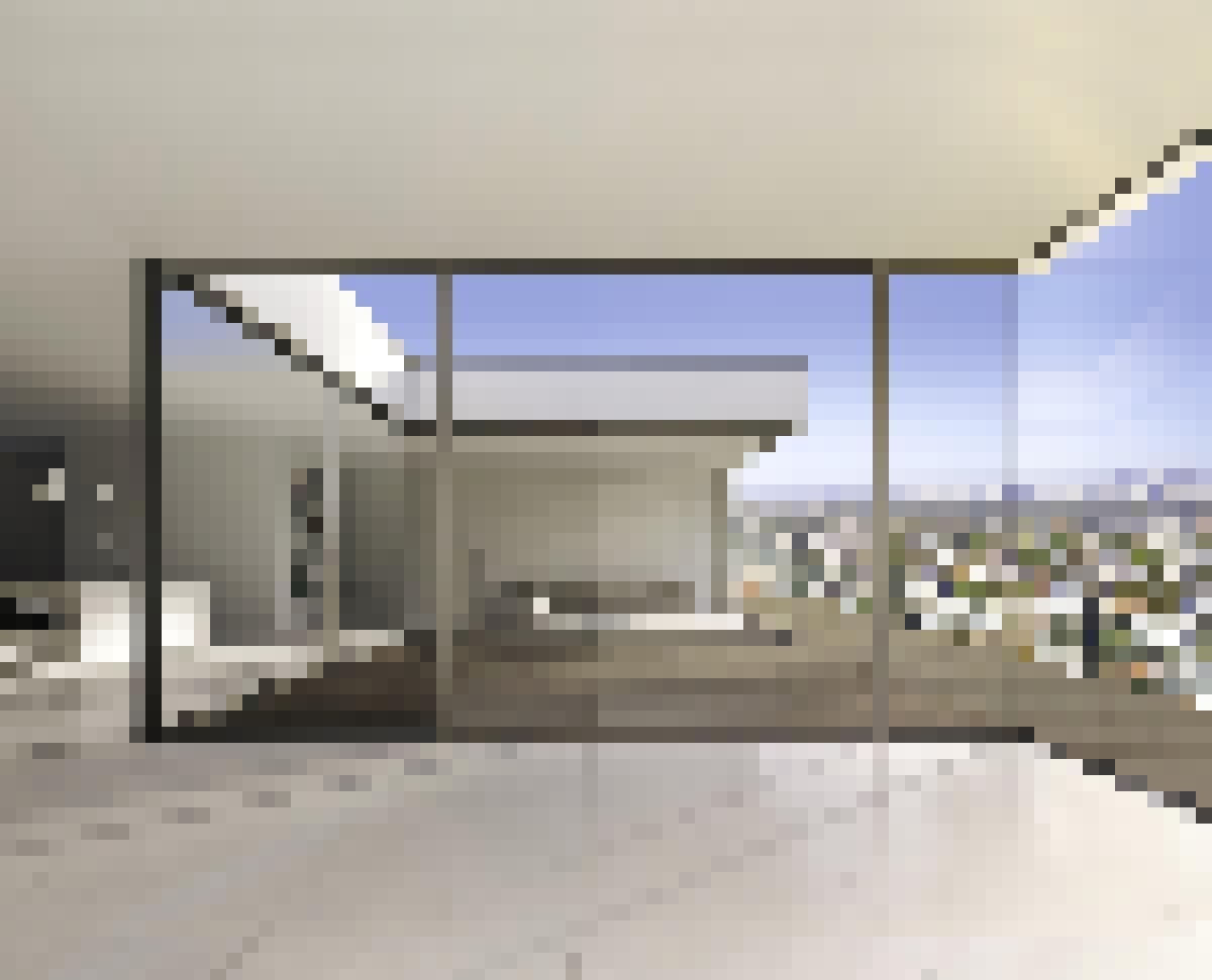 Minimal Framed Sliding Glass Walls
