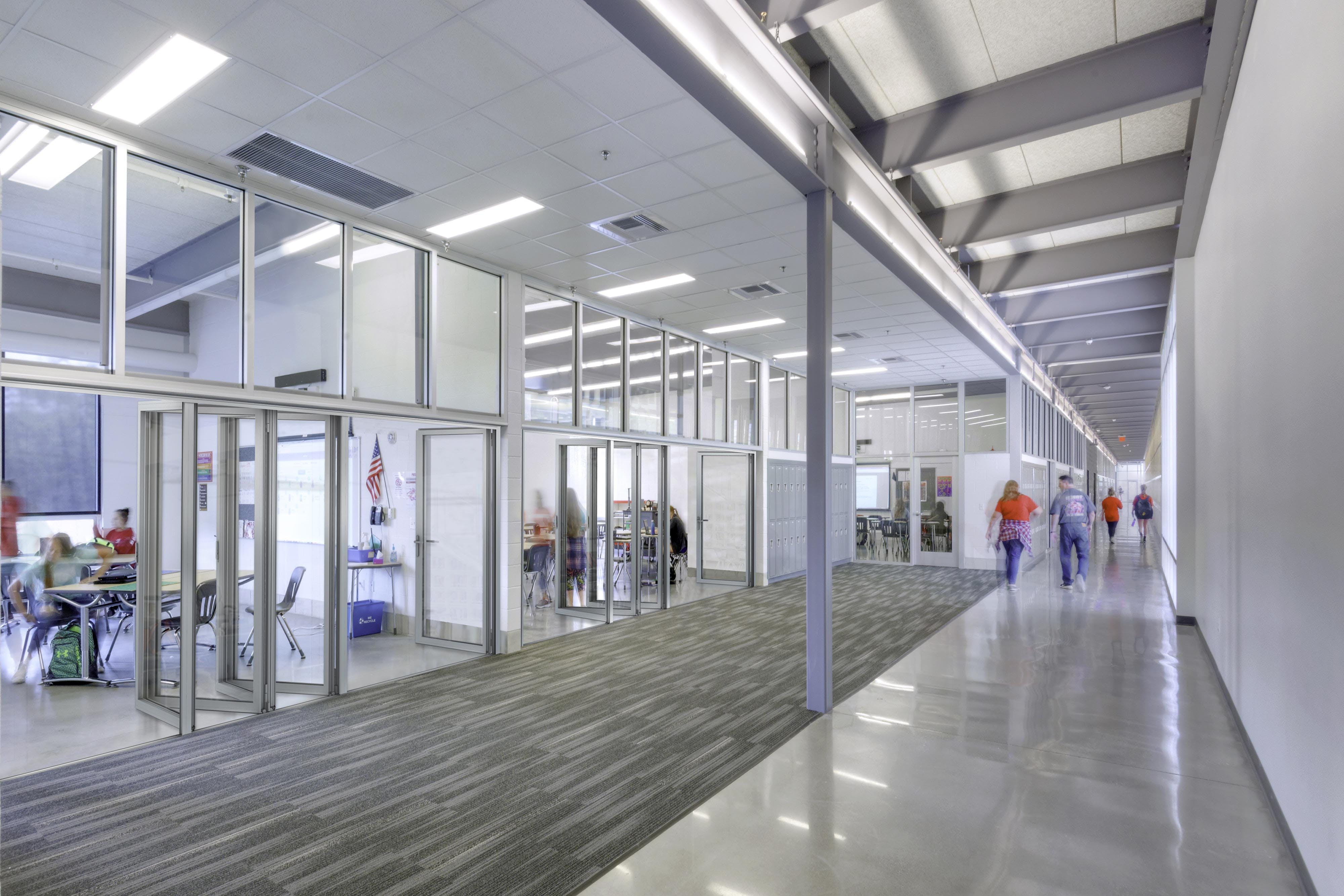 acoustic glass wall reed middle school
