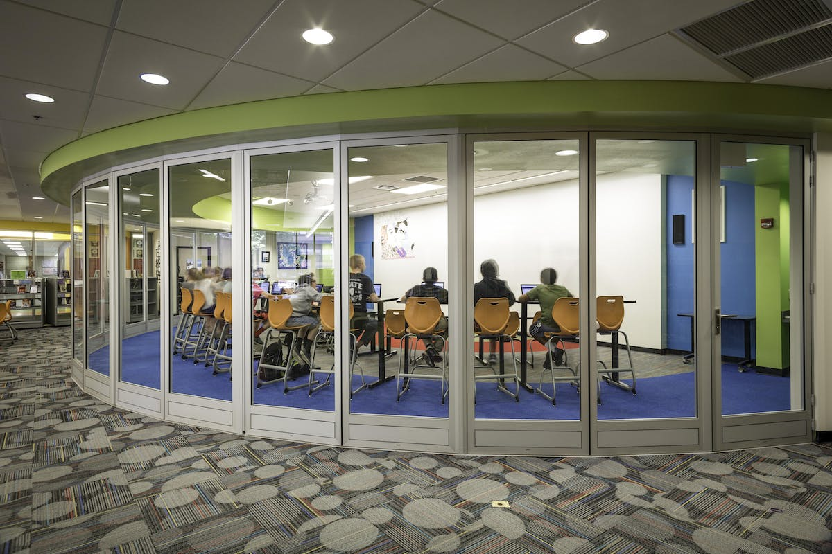 acoustic glass wall-range of sound-rated interior