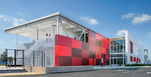 21st Century School design at Rio del Sol Academy with opening glass walls