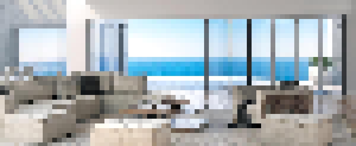 NW Aluminum 640 Folding Glass Walls Ocean View