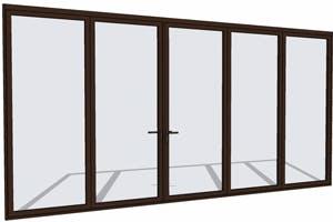 Brown folding door in SketchUp