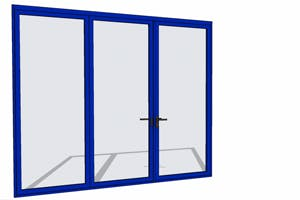 Blue folding door with SketchUp