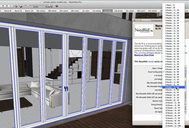 Folding Doors within the SketchUp Tool
