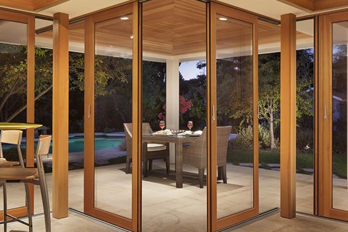 Sliding Glass Walls Wood Framed